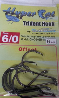 6/0 Offset Circle Hooks 6pcs