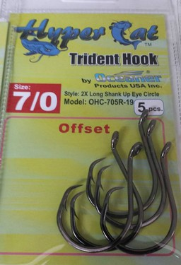 7/0 Offset Circle Hooks 5pcs