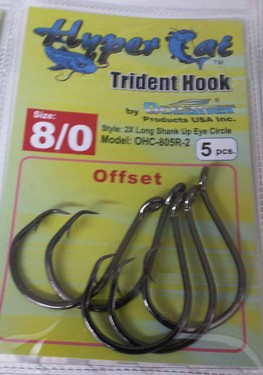 8/0 Offset Circle Hooks 5pcs