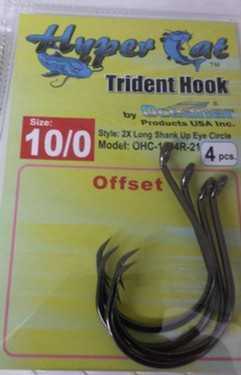 10/0 Offset Circle Hooks 4pcs